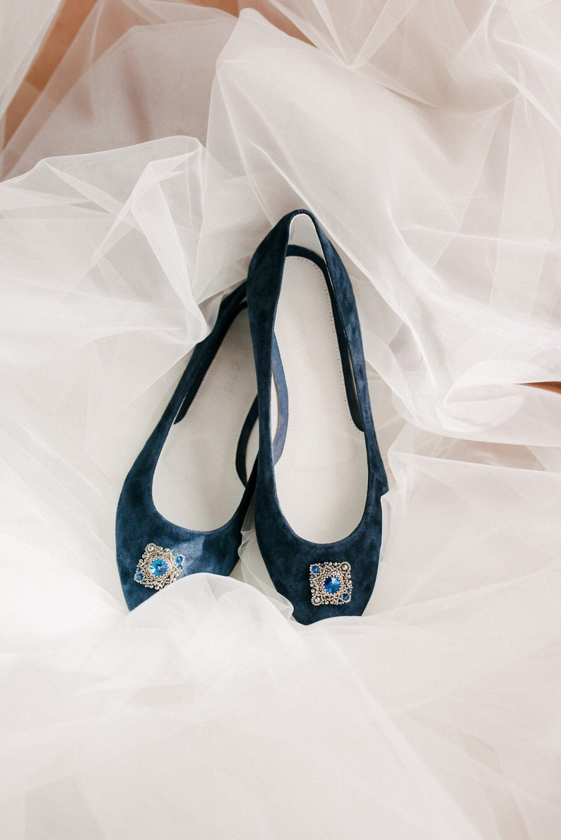 5f32926cae6 Wedding shoes blue wedding shoes bridal ballet flats low