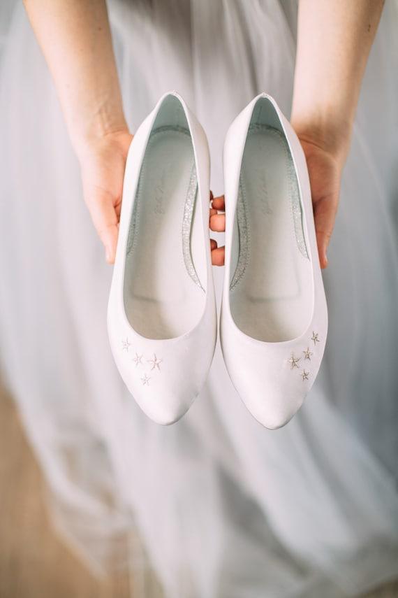 Hochzeitsschuhe Weisse Hochzeitsschuhe Braut Ballerinas Etsy