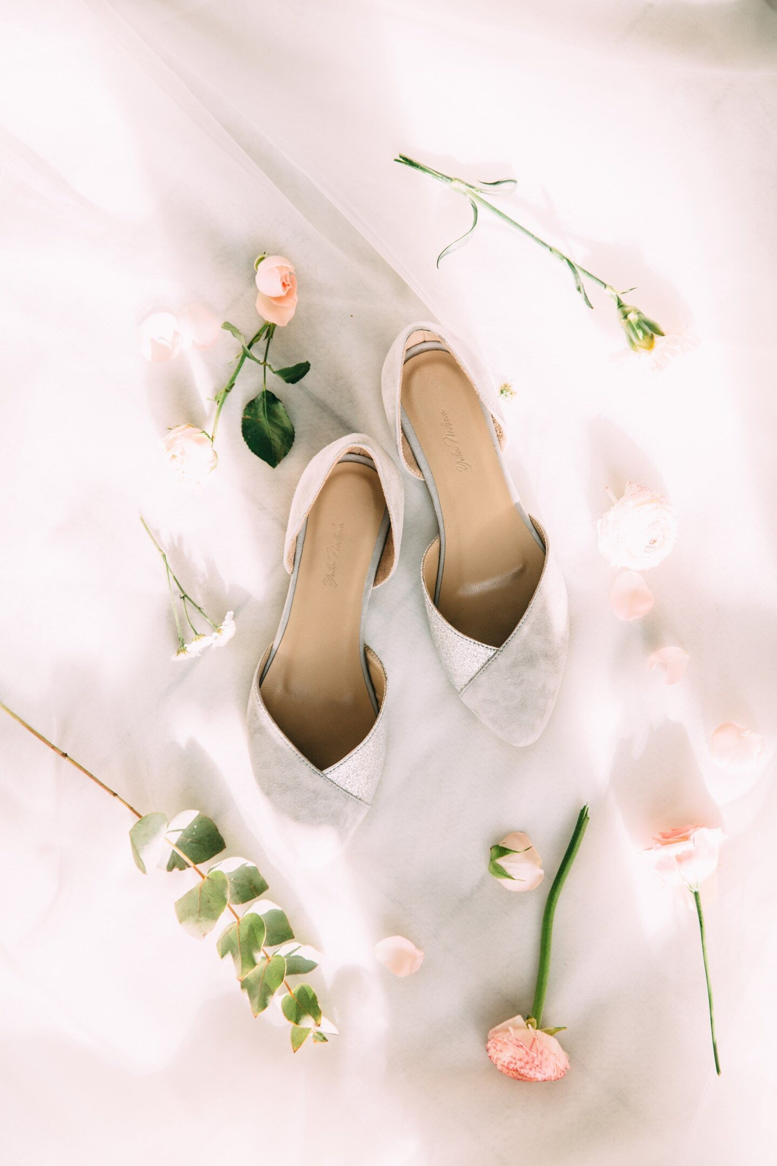 wedding shoes, gray wedding shoes, bridal ballet flats, low wedding shoes, bridal flats, wedding flats, silver flats, ballet fla