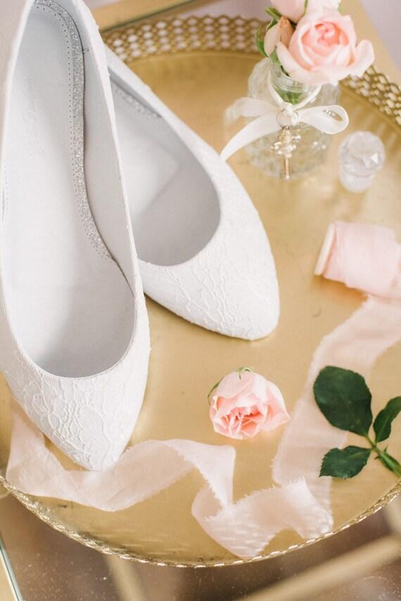 Spitze Hochzeitsschuhe Brautschuhe Braut Ballerinas Etsy