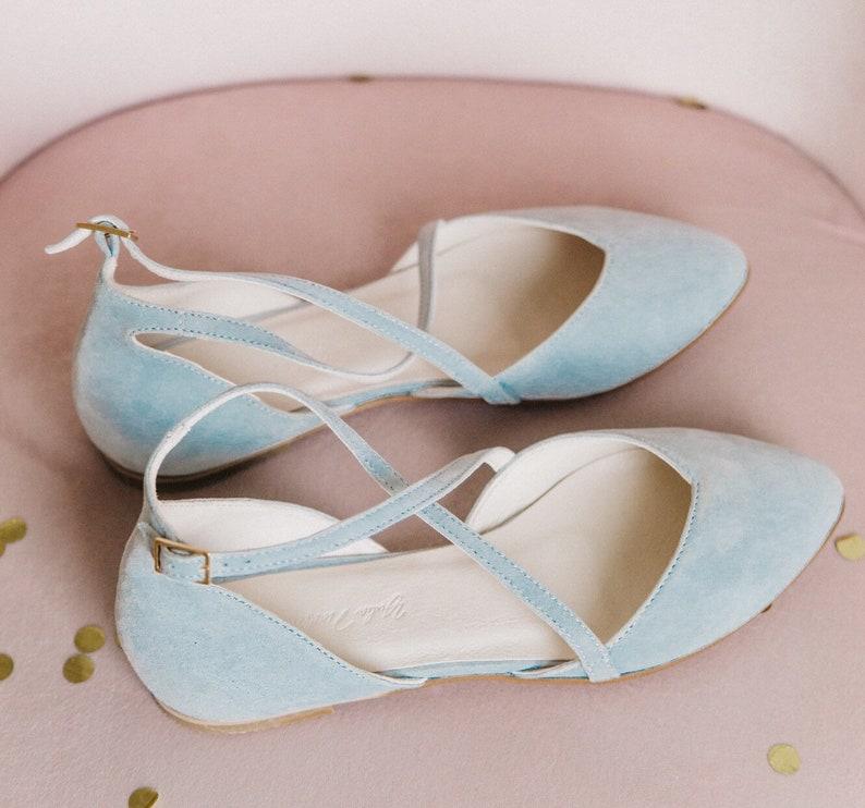 Wedding shoes  blue wedding shoes  wedding shoes for bride  image 0