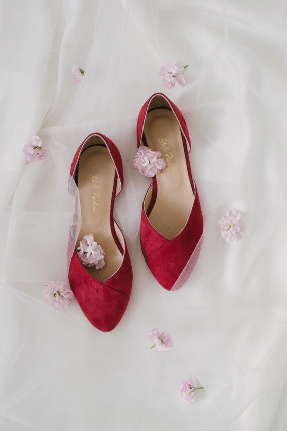 wedding shoes ballet flats low