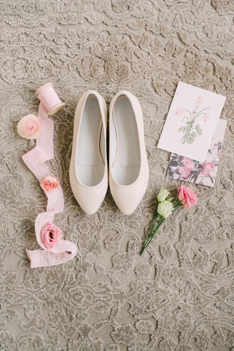 e2dafe72a870 White wedding shoes Wedding shoes bridal ballet flats low