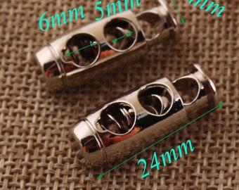 6275c3db89254e 5 Silber Doppelzylinder Schnur Knebelverschluss, Cord Lock, Seil-Schnalle,  Handwerk Schnur locken, Anschluss Schnalle, Frühling Schnalle, ...