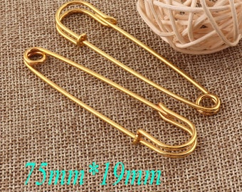 100PCs Safty Pins Gold 18mm Dressmaking Brooch Badge Sewing Crafts Fastening #