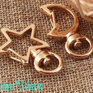 40 PCS Lobster Swivel Clasps,BronzeGoldBlackRose Gold Hook,9mm Alloy Clasp,Connector Snap,Buckle Gate Bag Purse Clasps-Wholesale d70
