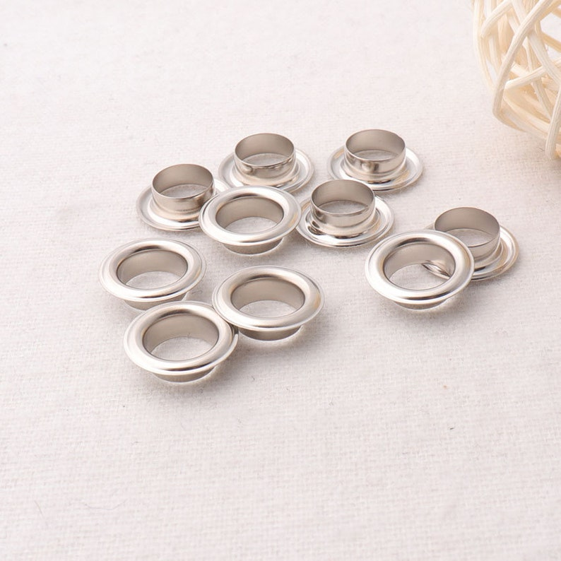 inner size,Great for ClothesLeatherCanvasbagrivet studs 100 sets,Silver eyelets,38 inches ey3025 10mm