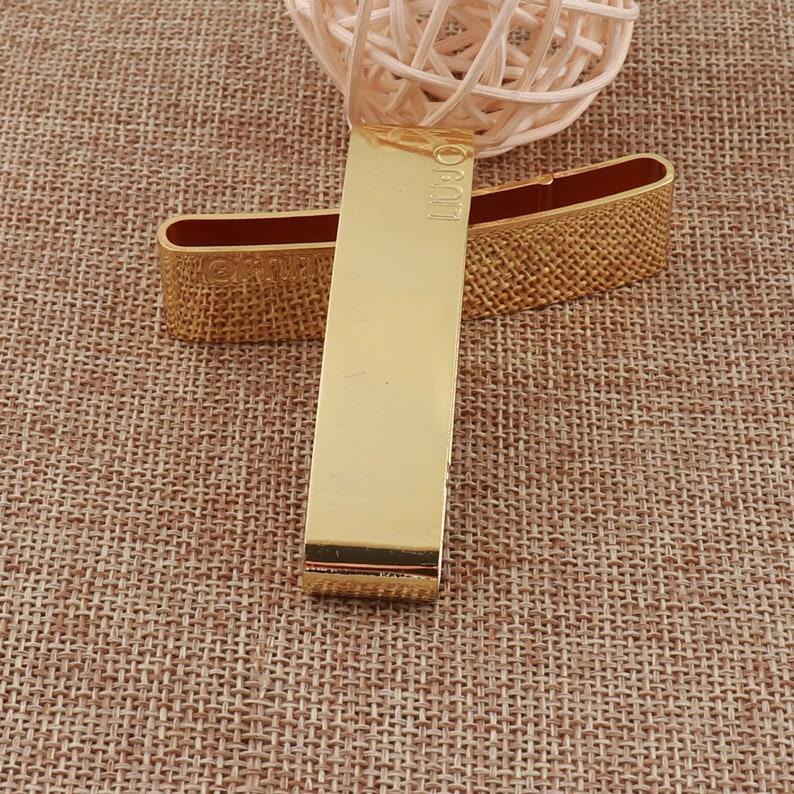 6 PCS Gold Belt Clip Sliders Buckle,65mm Metal Wallet strap adjuster Adjustable Buckle,billfold webbing Purse Bag buckles Strap Keeper 1482