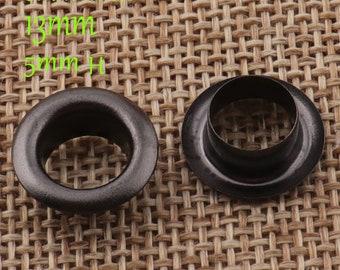 100 Sets Eyelets,Barrel Diameter 8 mm,Black Metal Eyelets Grommets With Washers,Leather,Holes,Canvas,bag,Purse Eyelets(3041)