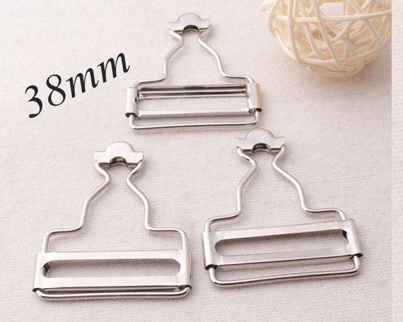 Silver Dungaree Buckles Clip Belt Fasteners Strap Sliders Metal 53mm x 42mm UK