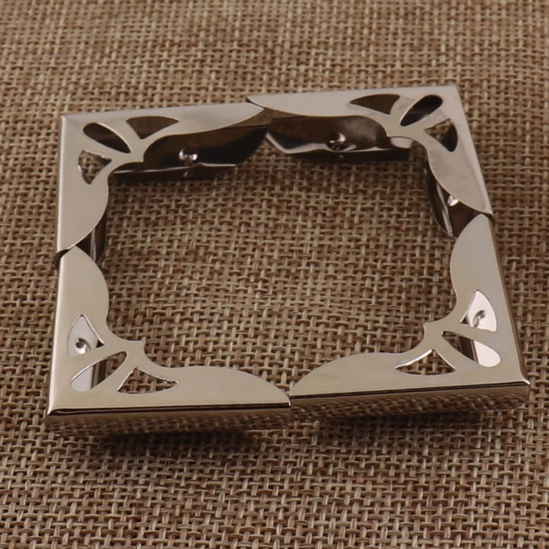 6 Metal Corner Protectors,30x30mm,Silver Corner Cet of 4,Picture Frame Corners,Jewelry Box Corners,Wine Box Corner,Metal Box Corner