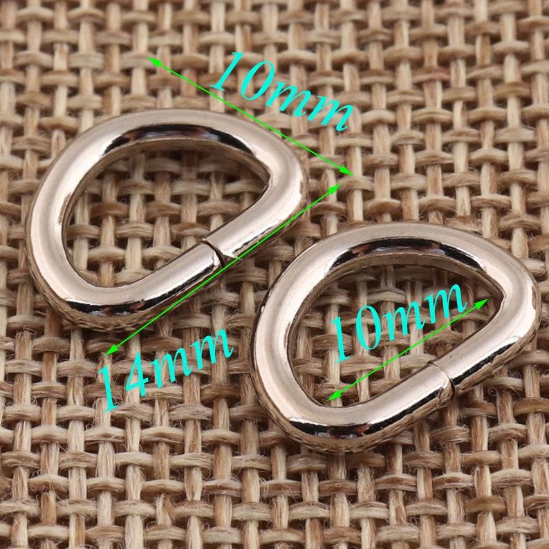 22 10mm D Rings d ring belt,50 PCS Silver D Ring Buckles purse ring,Webbing Purse Bag Handbag purse Hardware metal d-ring