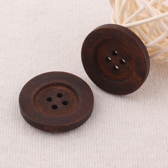 Pack of 6 Large Wood Toggle Buttons 5cm 2 inch Dark Coffee Colour Free P/&P
