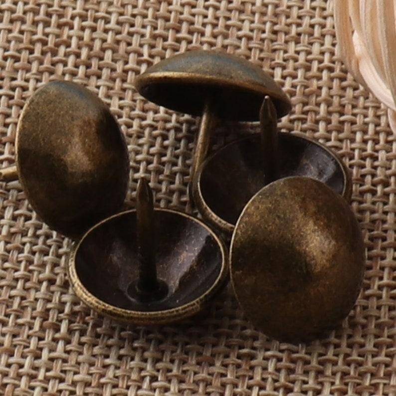 1981 50 Pcs Antique Bronze Upholstery Tacks,16mm Nailhead Tacks Rivets,Upholstery Tacks Nails,thumb tacks old tacks,Studs Nails-Wholesale
