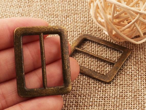 10Pcs Antique Bronze Slider Adjustable Metal Buckle Webbing Strap 20mm