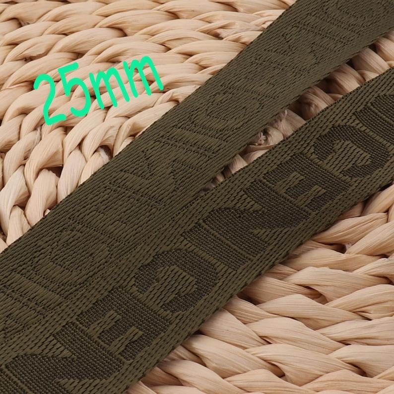 Smooth Webbing,Army Green Webbing,1 inch webbing,LettersNICERibbon,Belts Bag,Handle Bag,Purse Straps,nylon webbing,,webbing key fob WB578