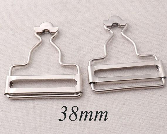 Metal Fasteners Bronze Dungaree Clip Belt Buckle Brass Bib 40mm 2-50 Pcs