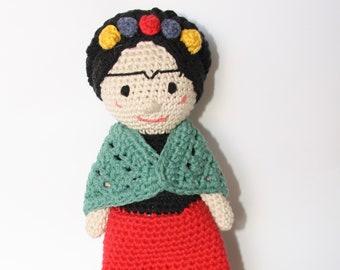Amigurumi Frida, Frida Kahlo, Frida Kahlo doll, doll Frida Kahlo, doll amigurumi, Frida Kahlo crochet, handmade gift, feminist characters