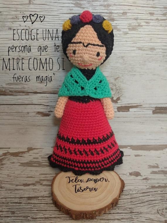 Amigurumi Frida Frida Kahlo Frida Kahlo Puppe Puppe Etsy