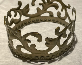 """10 1/2"""" circumference Golden Crown"""