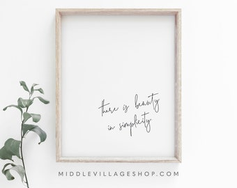 Simplicity Quote Etsy