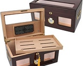 Versailles Glass Top 100 Cigar Humidor