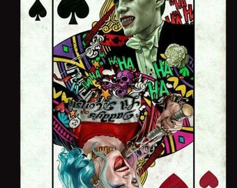 Joker and Harley Quinn Playing Card