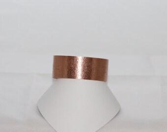 Adjustable copper cuff bracelet