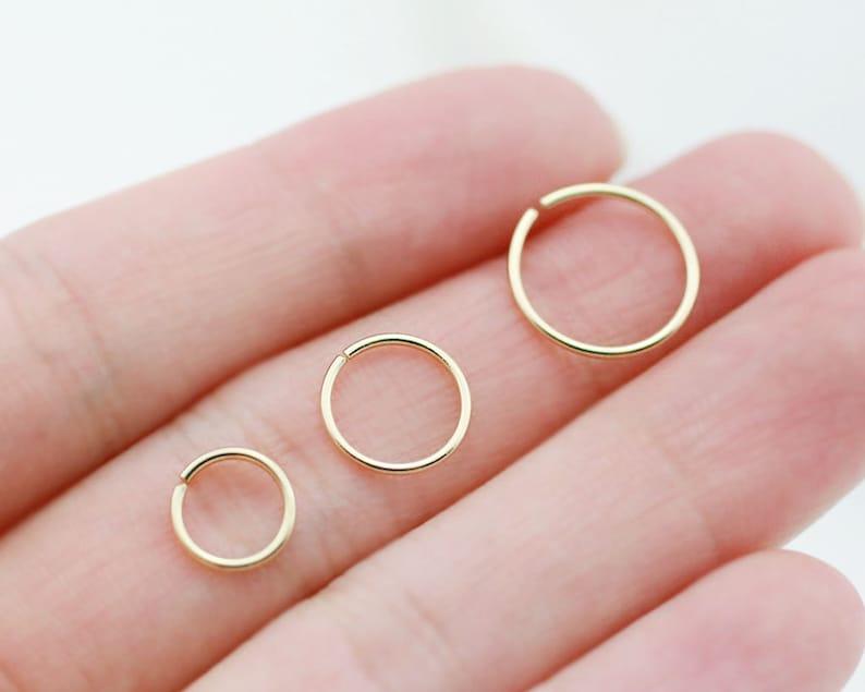 Huggie hoop Snug Cartilage Hoop Ear hoop Helix hoop 10K solid gold Cartilage earring Ear cuff 925 Sterling silver Nose hoop