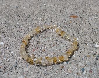 Genuine Citrine Gemstone Bracelet, Gemstone Jewelry, Hippie Bracelet, Festival Jewelry, Crystal Bracelet