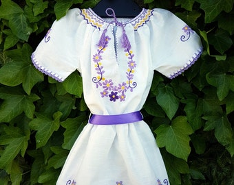 Brand NEW Girl Dresses and Bluses Traditional Folk Art Vintage HANDMADE embroidered and crocheted Colorful Hungarian Matyo 100% Cotton