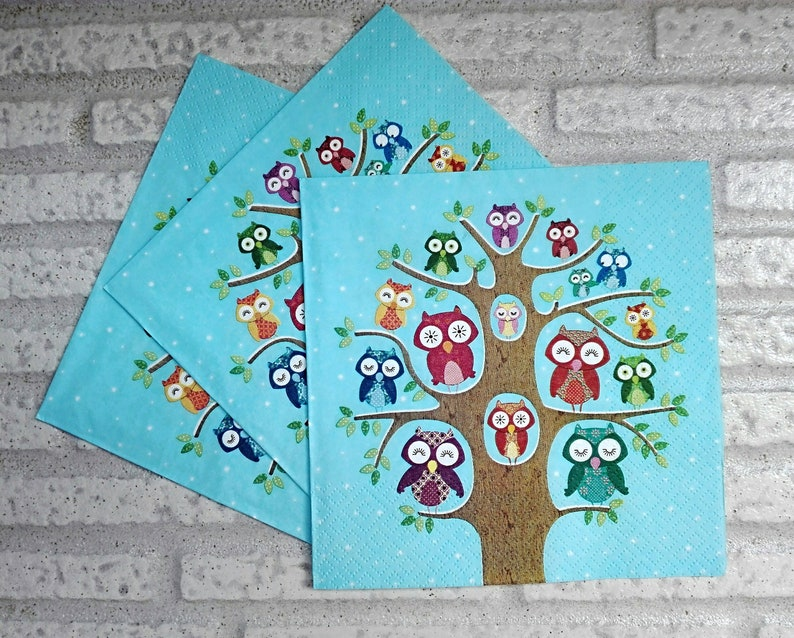 Crafts Supply 4 Paper Napkins Serviettes Collage Napkins B New Cute Lambs