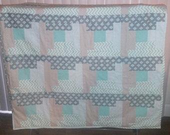 Baby boy quilt blanket
