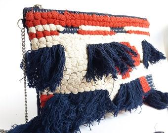 fb92e26e2c Borsa a tracolla, borsa di tela, borsa fatta a mano, borsa etnica- Boho  clutch bag canvas bag