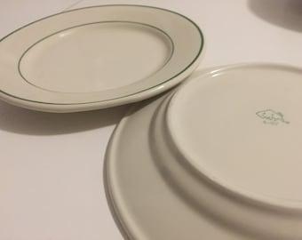 Buffalo ceramics 9 inch dinner plates 1950s diner- set & 1950s dinner plates | Etsy