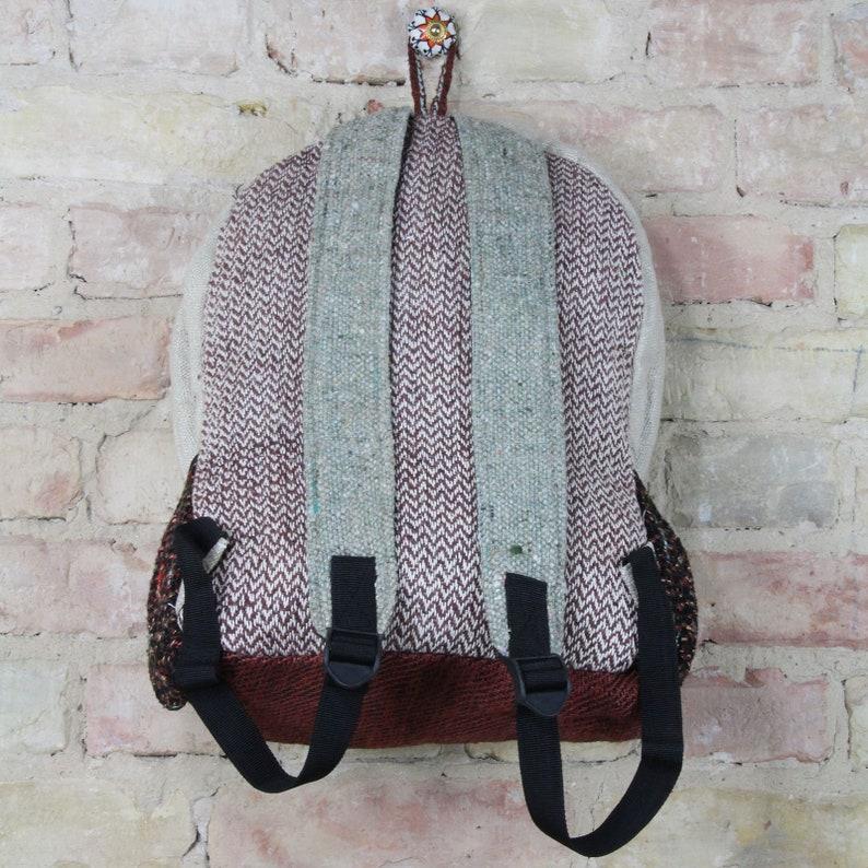 Backpack-Hemp-Pattern 09-beige-colorful