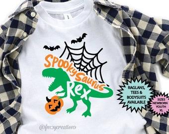 Dinosaur Halloween Shirt | Trick or Treat Dinosaur | Boy Halloween Shirt | Kid Halloween Shirt | Dinosaur Trick or Treat Toddler Halloween