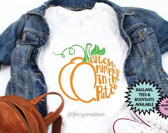 Girl Halloween Shirt | Cutest Pumpkin in the Patch | Pumpkin Shirt | Toddler Halloween Shirt | Pumpkin Patch Shirt | Halloween Outfit
