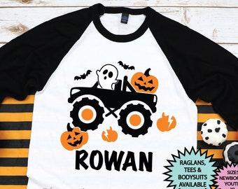 Boy Halloween Shirt | Monster Truck Halloween Shirt | Kid Halloween Shirt | Halloween Truck | Toddler Boy Halloween Shirt Monster Truck