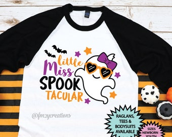 Girl Halloween Shirt | Little Miss Spook Tacular | Toddler Halloween Shirt | Kids Halloween Shirt | Trick or Treat Shirt | Halloween Outfit