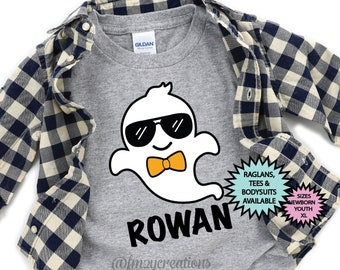 Kids Halloween Shirt | Ghost Shirt | Boo Shirt | Boy Halloween Shirt | Ghost Kid Halloween Shirt | Trick or Treat Toddler Halloween