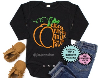 Cutest Pumpkin in the Patch Shirt | Pumpkin Shirt | Pumpkin Patch Shirt | Halloween Shirt | Toddler Halloween Shirt | Girl Halloween Outfit