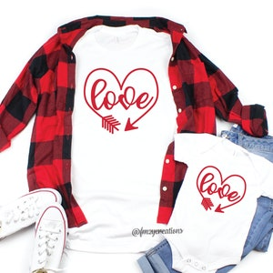 Valentines Day Shirts Heart Shirt Cute Mother Daughter VD37 Mommy and Me Valentines Day Shirts Mommy and Me Outfit Love Shirt