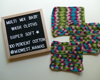3 Pack of Baby Wash Cloths