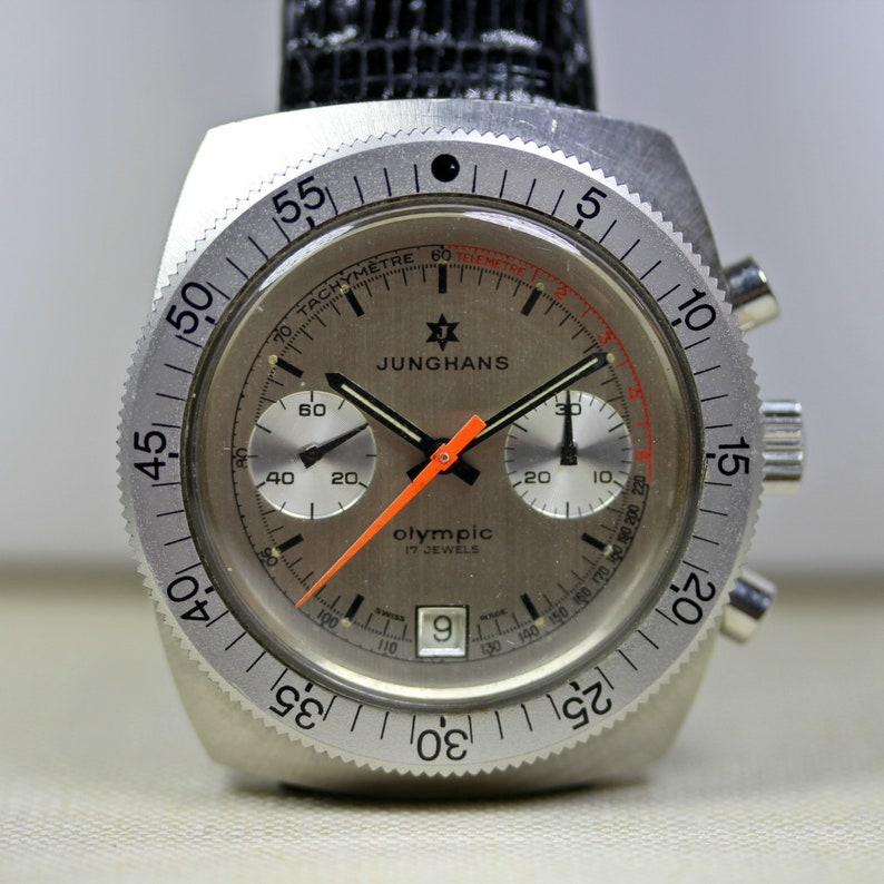 949f1f896866 Vintage Stainless Steel Junghans Olympic Chronograph Watch