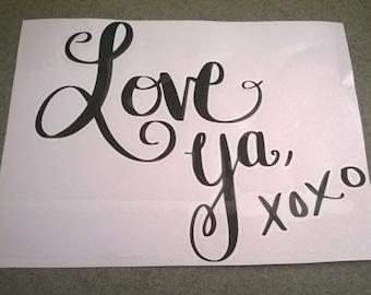 Love Ya XOXO Vinyl Wallart