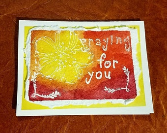 Praying For You Watercolor Card
