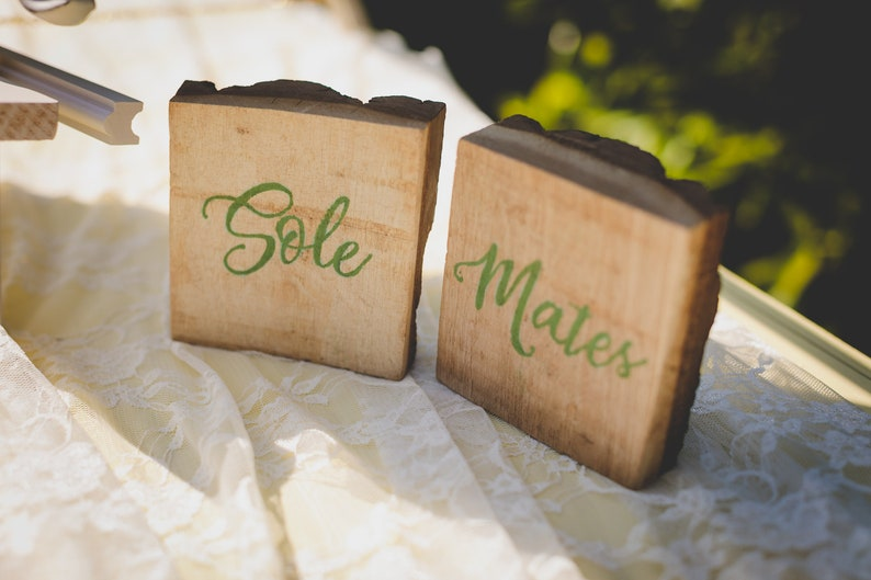 f53cadb583fa8e Sole Mate Rustic Wedding Sign  Flip Flop Shoe Valet Wedding