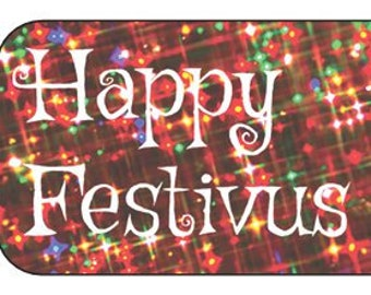 Small Festivus Gift Labels