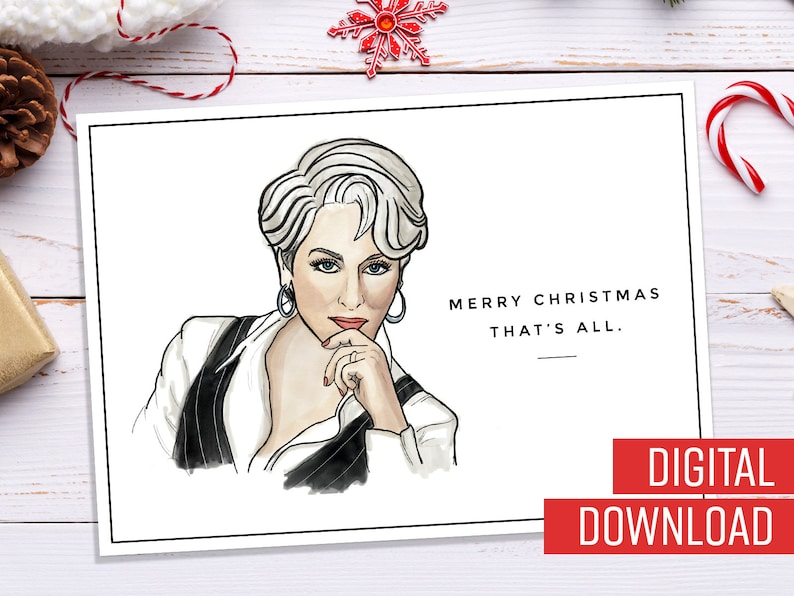 9dce9e8ac Devil Wears Prada Miranda Priestly Merry Christmas That's | Etsy
